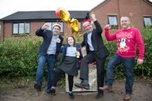 Pupils 'unwrap' new Superfast Telford Mascot