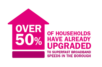 Illustration of over 50% of households have already upgraded