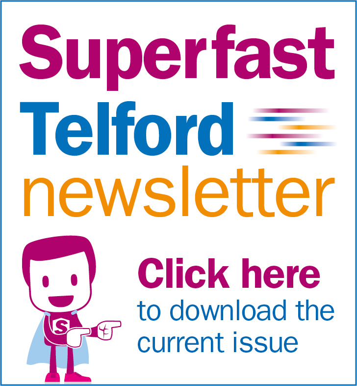 A graphic promoting the Superfast newsletter you can sign up to