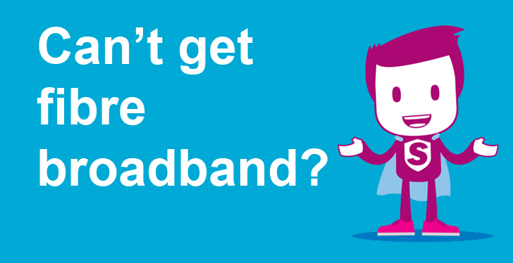 Can't get fibre broadband icon
